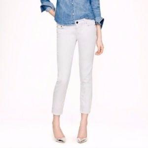 J Crew Cropped Matchstick Jeans Light Grey 27